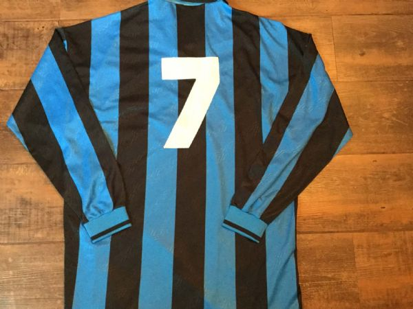 1994 1995 Inter Milan Match Issue  Bianchi L/s Football Shirt Adults XL Maglia Italy